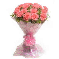 Stylish Pink Colored Carnation Arrangement