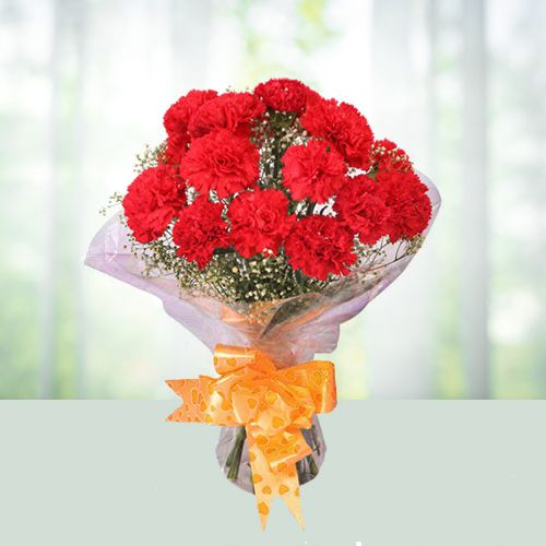 Special Bouquet of Red Carnations