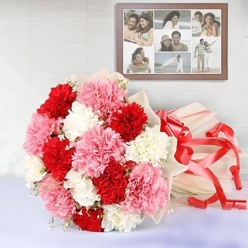 Cheerful Carnations Bouquet in Mixed Colour