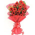 Soft Red Gerberas Bouquet