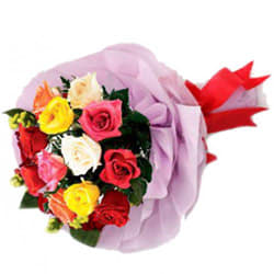 Brightening Beauty Mixed Roses Premium Bouquet
