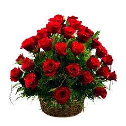 Expressive Dutch Roses Basket