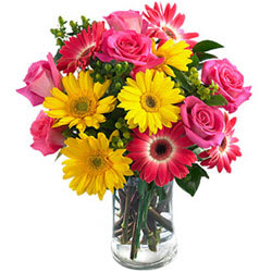 Sweet Surprises Floral Selection in a Glass Vase
