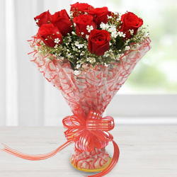 Everlasting Bouquet of Red Roses