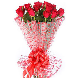 Unforgettable Classic Dutch Red Roses Bouquet