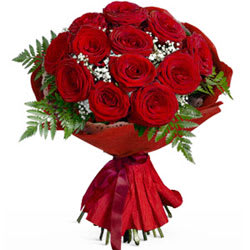 Blooming Seasons Greetings Roses Bouquet