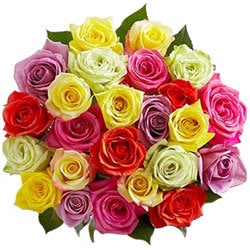 Vibrant Assorted Roses Bunch