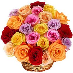 Blooming Love Filled Mixed Roses Bouquet