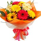 Heavenly Thinking About You 10 Gerberas Bouquet