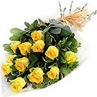 Stimulating Power of Inspiration Yellow Roses Bunch