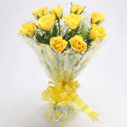 Lovely Deep Emotions Yellow Roses Bunch