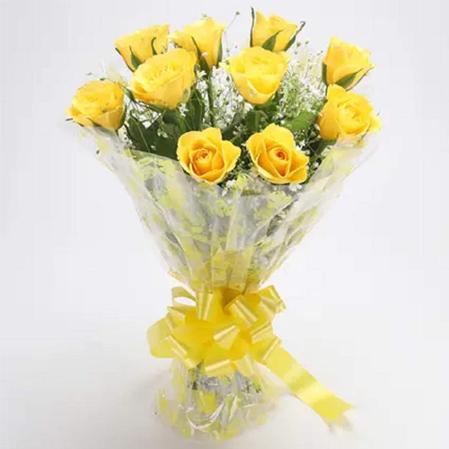 Magical Bunch of Yellow Roses of Long Lasting Love