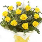 Stunning Spread The Happiness 12 Yellow Roses Arrangement