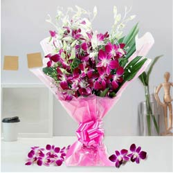 Vibrant Blooms of Orchid Stems Bouquet