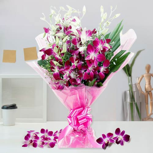 Royal Purple Orchids Bouquet