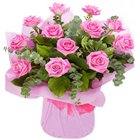 Attractive Garden Inspiration Pink Roses Bunch
