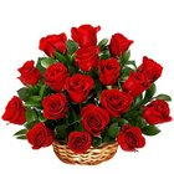 Sweet Basket of Red Roses