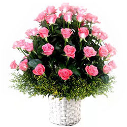 Fresh Arrangement of Pink Roses