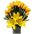 Mirthful Arrangement of Glittering Flowers