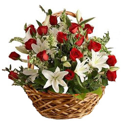 Gorgeous Basket of Fresh Flowers
