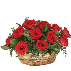 Expressive Anniversary  Arrangement of Red Roses