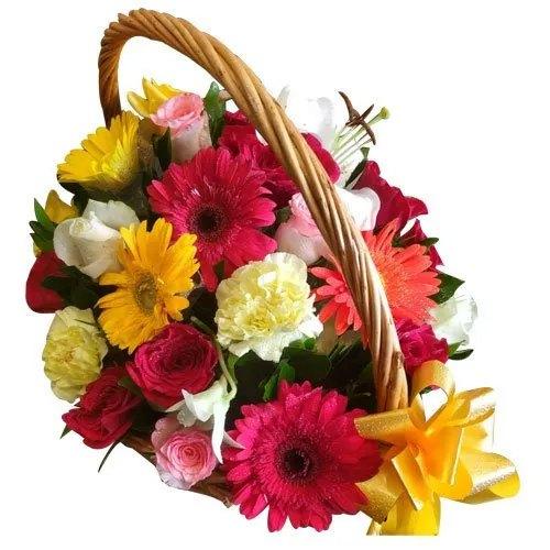 Buy Basket of Assorted Flowers