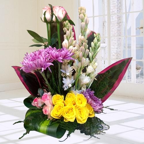Mesmerizing Arrangement of Colorful Flowers