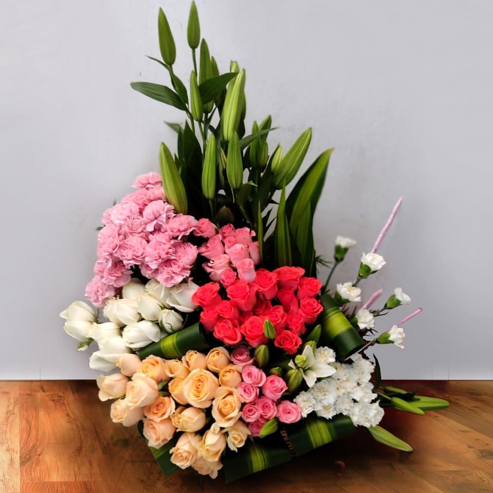 Exclusive Mixed Flowers Arrangement