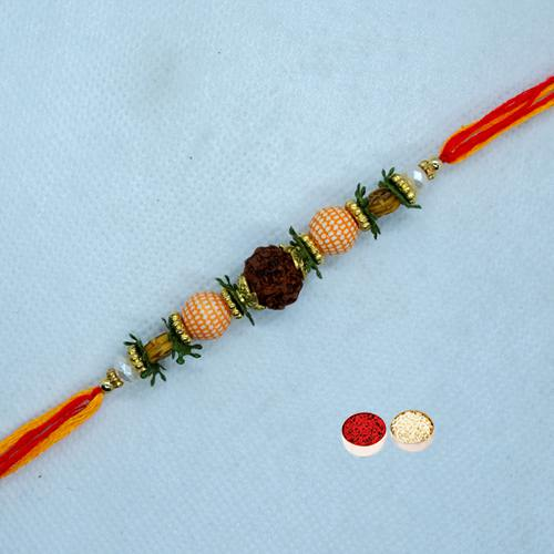 Beautiful Rudraksha Rakhi for Celebration<br>