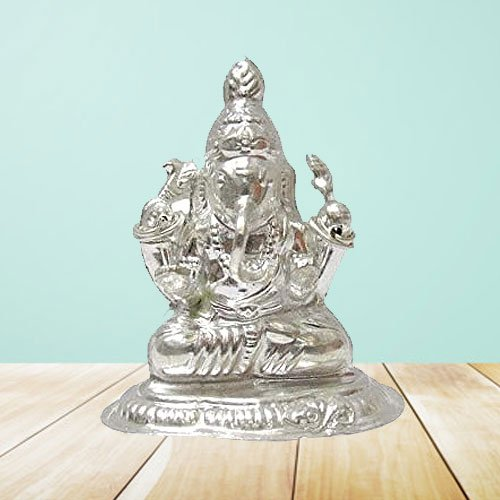 Send Silver Ganesh Idol