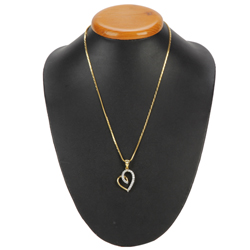Urge-Generating Heart of Gold Pendant with Chain