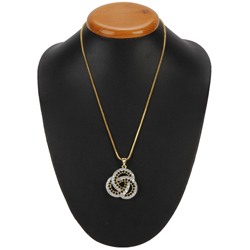 Struck by Cupid Chiaroscuro Diamond Pendant with Chain