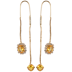 Rakishly Elegant Sui Dhaga Earrings from Avon