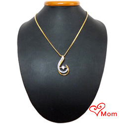 Gold Plated Necklace with Teresa Pendant to enthrall her imagination