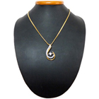 Spine-Tingling Magnetism Gold Plated Necklace with Teresa Pendant