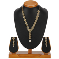 Opulent Allure Necklace with Earrings Set