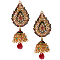 Scintillating Jhumka Design Earring Set
