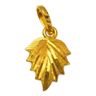 Flattering Leaf Shaped Gold Pendant from Anjali (22K)
