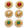 Send Attractive 3 Pcs Interchangeable Earrings set from Avon to Kerala
