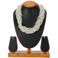 Glamorous Pearl Plait Necklace and Earrings Set from Avon