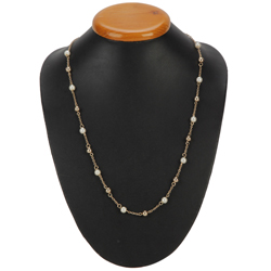 Send Gold Plated Pearl Necklace from Avon