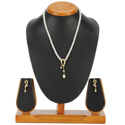 Breathtaking Artificial Pearl N AD Pendent Set