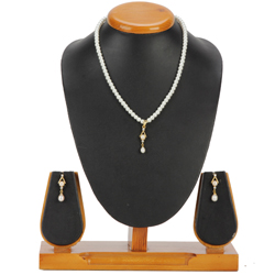 Exquisite Pearl Pendent Set with Matching Earrings