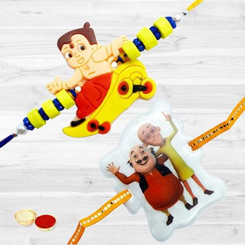 Admirable Designer Two Rakhis for Children<br>