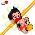 One Hanuman Rakhi with Roli and Chawal