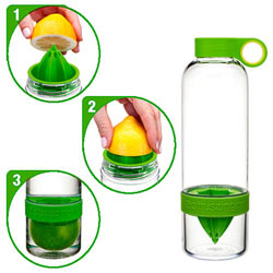 Exclusive Citrus Zinger Water Infuser Bottle with Fruit Flavours