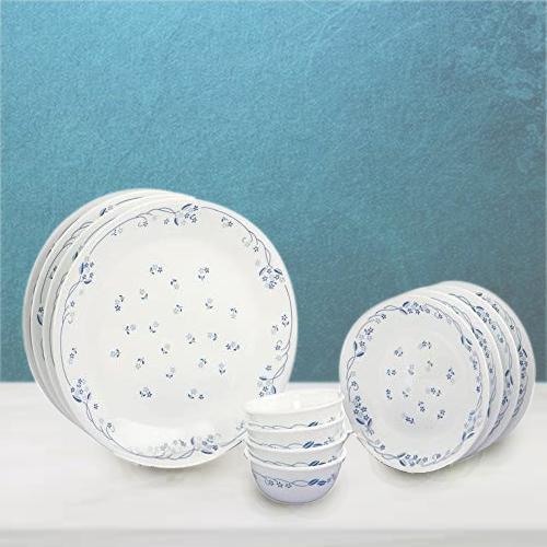 Amusing Corelle Provincial Blue n White Glass Dinner Set
