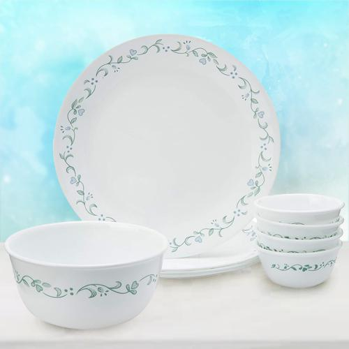 Alluring Corelle Country Cottage Glass Dinner Set