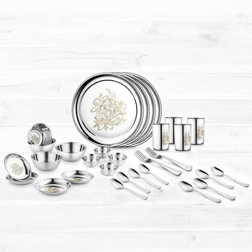 Attractive Jensons Stainless Steel Daisy Dinner Set