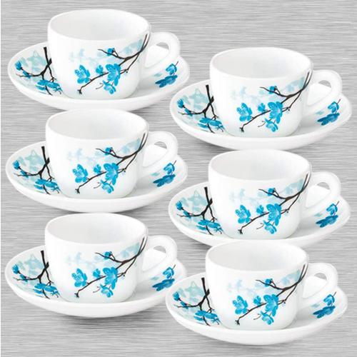 Eye-Catching Larah By Borosil Mimosa Cup and Saucer Set